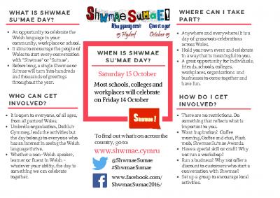 Shwmae Leaflet