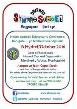 Poster Shwmae Pontypridd